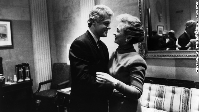 Former President Bill Clinton and first lady Hillary in Washington DC in 1993.