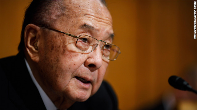Daniel Inouye, the Medal of Honor-winning World War II veteran who represented Hawaii in the Senate for four decades, died in 2012 at 88