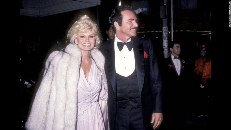 "Reynolds and Loni Anderson attend the premiere of ""City Heat"" in 1984. Anderson became Reynolds' second wife in 1988. The two divorced in 1993."
