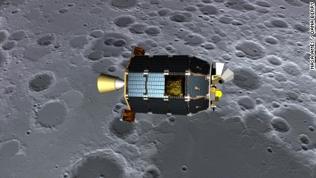 The scientists used data from LADEE, a robotic craft that studied the moon from orbit up through 2014