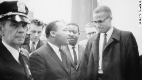 This impromptu meeting in 1964 between the Rev. Martin Luther King Jr. and Malcolm X was the only time the two had met.