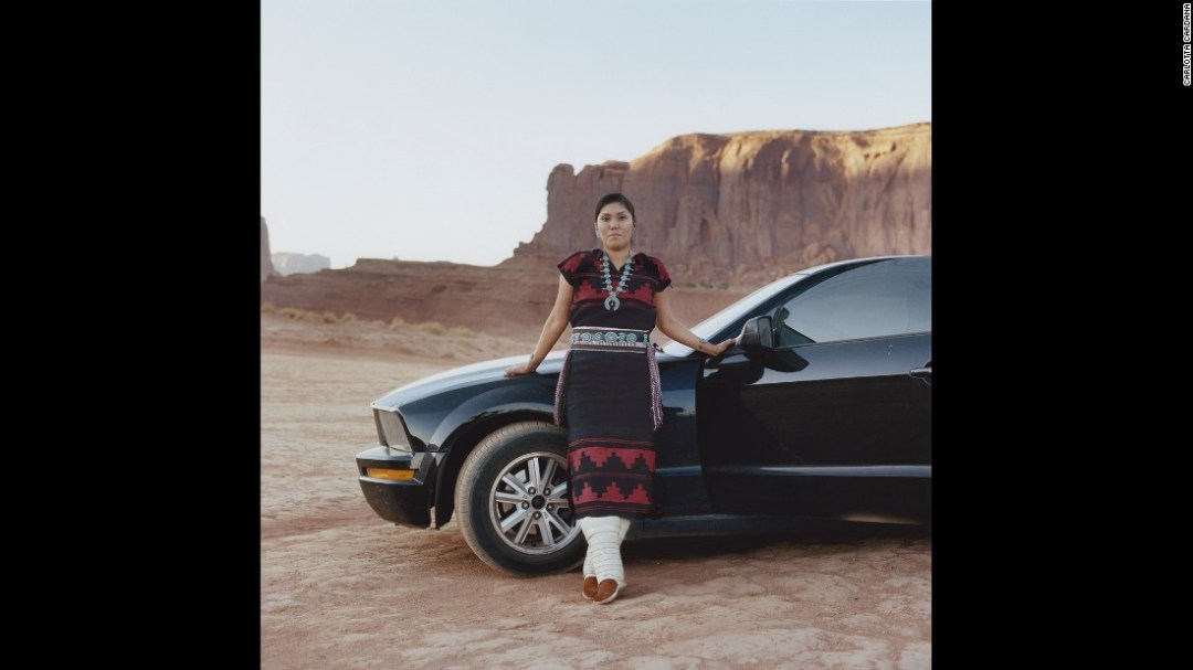 Evereta Thinn, 30, is a Navajo woman from Shonto, Arizona. An administrator at a Shonto school district, she aspires to start a<br />language and cultural immersion school for her people.