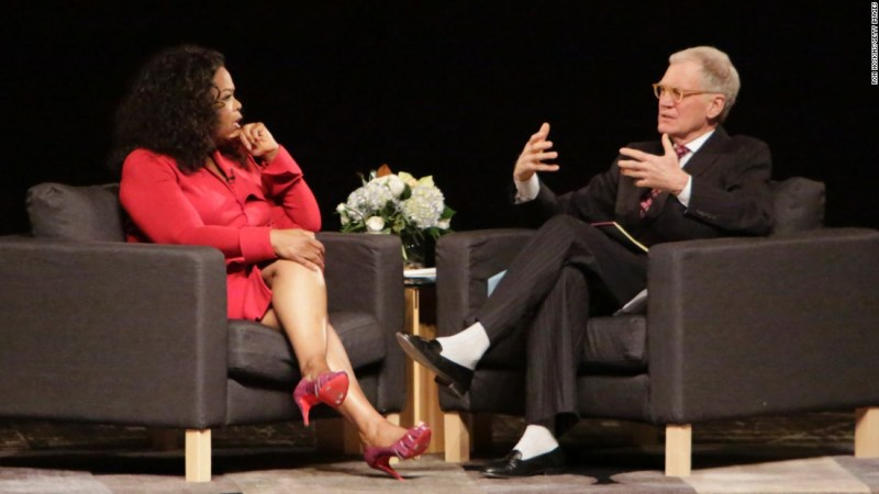"""Oprah Winfrey was reportedly annoyed by David Letterman's constant joking references to her name when he hosted the Academy Awards in 1995. The late-night talk-show host told """"The Daily Show's"""" Jon Stewart he had also once played a practical joke on Winfrey, convincing a waiter that she had agreed to pick up his tab. They have since made peace."""