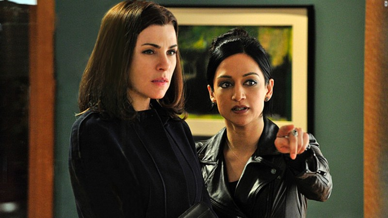 """<a href=""""http://tvline.com/2015/05/15/good-wife-alicia-kalinda-finale-scene-julianna-margulies-archie-panjabi/"""" target=""""_blank"""">TVLine reported</a> that Julianna Margulies, left, and Archie Panjabi did not actually film their final scene together on the """"Good Wife."""" According to the site, body doubles and special effects were used to create the scene. There have long been rumors of tension between the pair on the set of the hit CBS drama."""