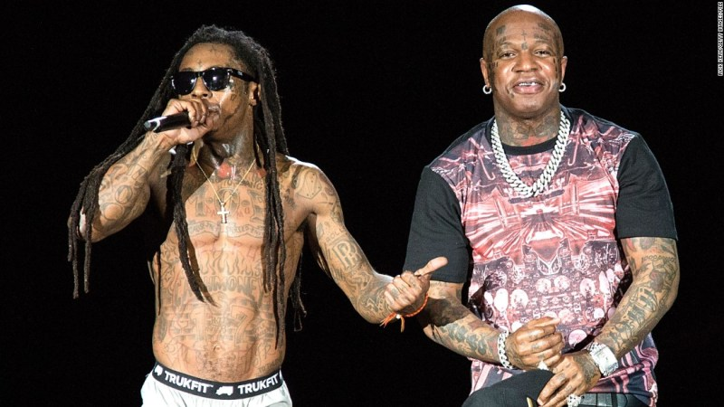 """Rappers Dwayne """"Lil Wayne"""" Carter, left, and Bryan """"Birdman"""" Williams were once the father and son of Cash Money Records. But in 2015 the pair became embroiled in a $51 million dollar court battle over Carter's contract and the delayed release of """"Tha Carter V."""""""