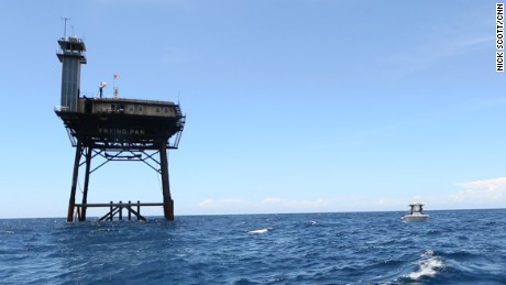 34 miles offshore, unique ocean hotel offers a true escape