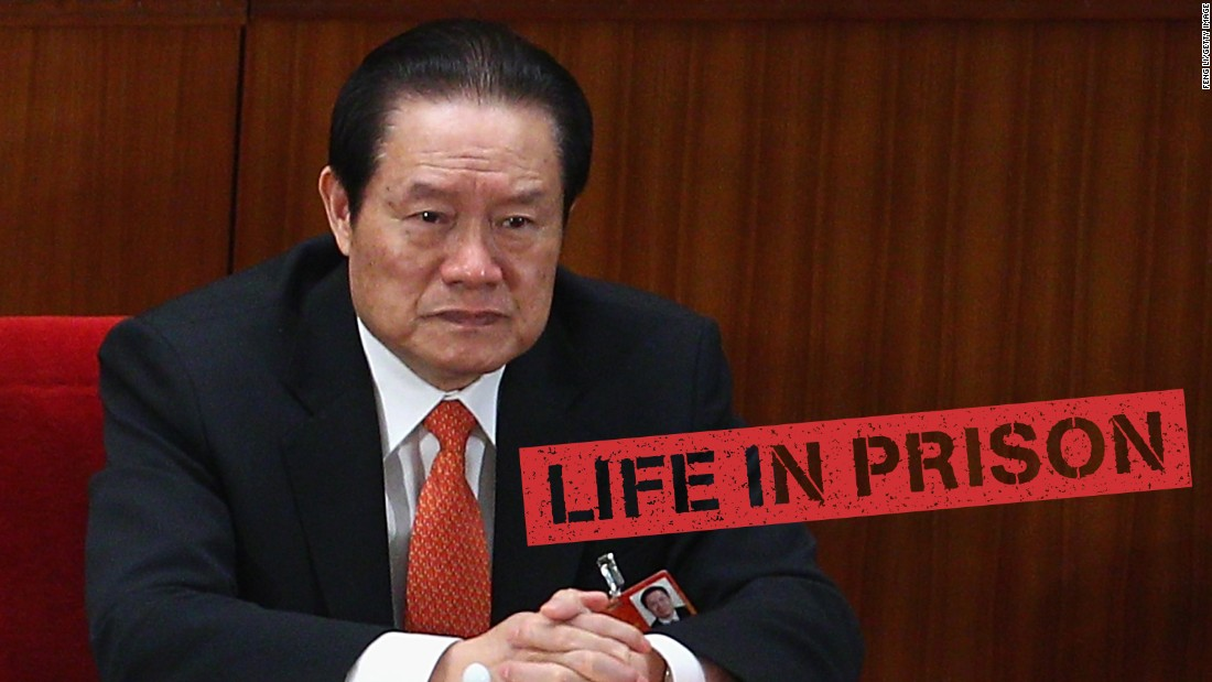 Image result for Chinese Leader jailed for corruption