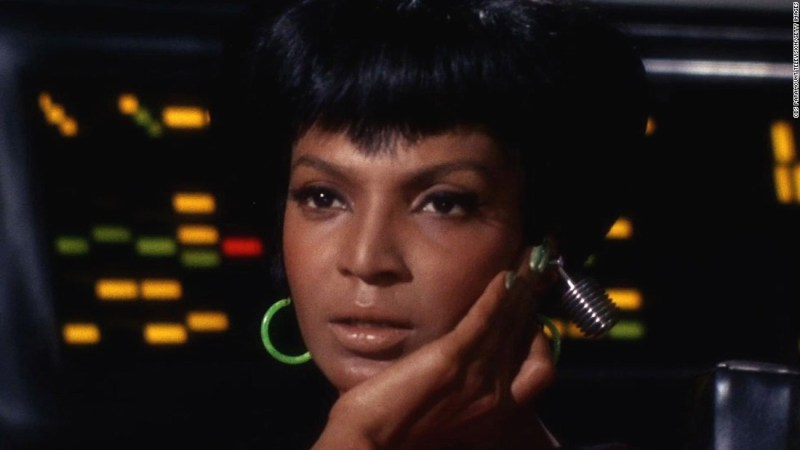 Nichelle Nichols broke barriers as one of the first black women on TV who was not playing a servant. Her character, Uhura, shared a kiss with Captain Kirk -- believed to be the first interracial kiss on television.