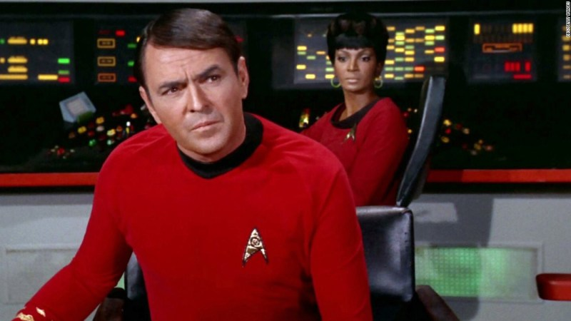 """Fans love imitating the brogue of James Doohan's Scotty, who continued the role in many """"Star Trek"""" films. He also stayed in science fiction with the Saturday morning show """"Jason of Star Command."""" Doohan died in 2005."""