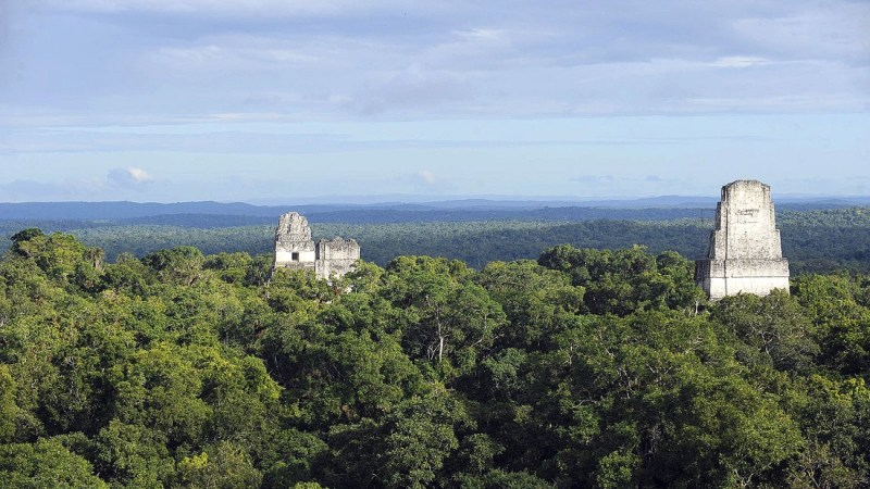 """<strong>Massassi outpost  (Tikal National Park, Guatemala): </strong>These thousand-year-old Mayan ruins came within a whisker of being destroyed by the Death Star in """"A New Hope."""" The film sees the temples used as a Rebel base."""