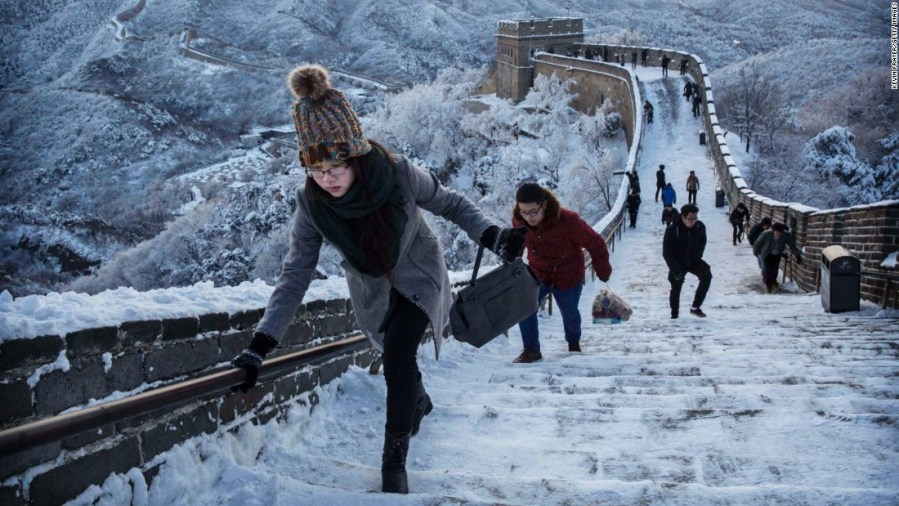 Amazing photos show Great Wall of China covered in snow   CNN Travel