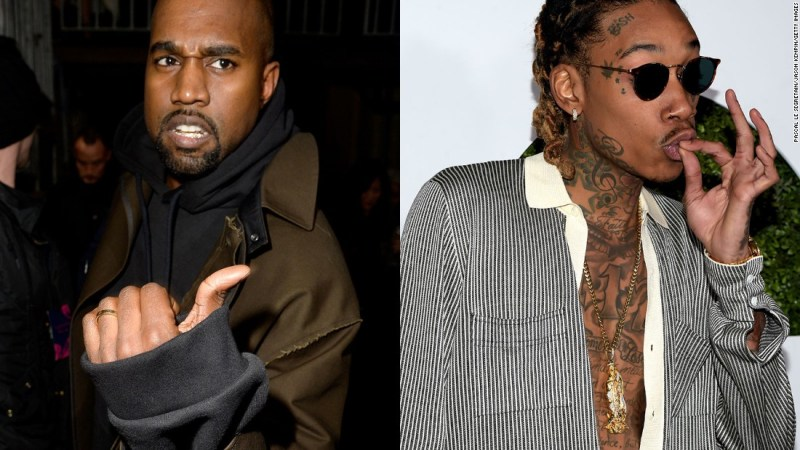 """West went in on fellow rapper Wiz Khalifa in a series of tweets in January 2016, after Khalifa was critical of the title of West's new project. West l<a href=""""http://money.cnn.com/2016/01/27/media/kanye-west-wiz-khalifa-twitter-rant/"""">ater deleted several of the tweets. </a>"""