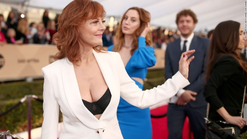 "Susan Sarandon's cleavage <a href=""http://www.cnn.com/2016/02/06/living/susan-sarandon-cleavage-feat/"">got a lot of attention</a> at the 22nd annual Screen Actors Guild Awards in January."