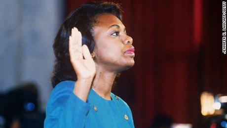 To some critics, Thomas is tainted by the 1991 sexual harassment allegations by Anita Hill at his confirmation hearings.