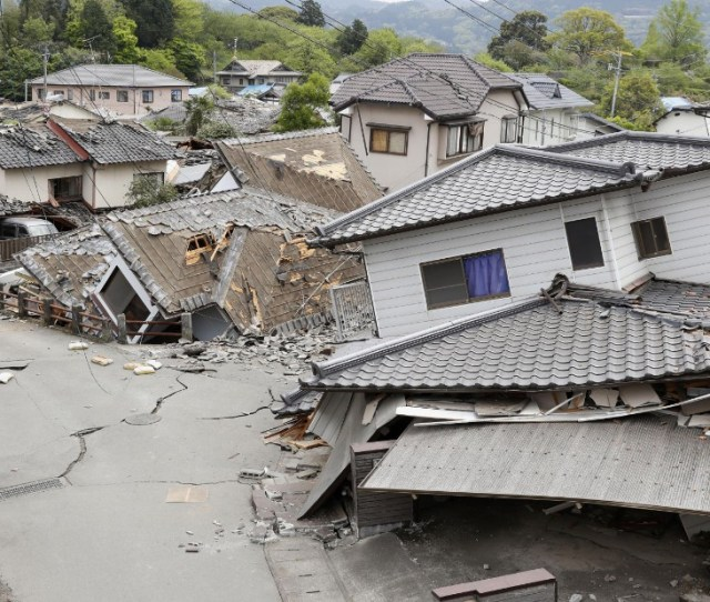 Damaged Houses Are Seen After An Earthquake In Mashiki This Is The Worst