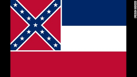 Adopted by the Mississippi Legislature in 1894. The thirteen stars, sometimes said to represent the number Confederate States and those that might have been Confederate, are said to represent the