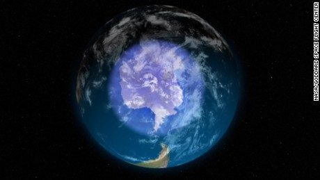 Antarctic ozone layer is healing