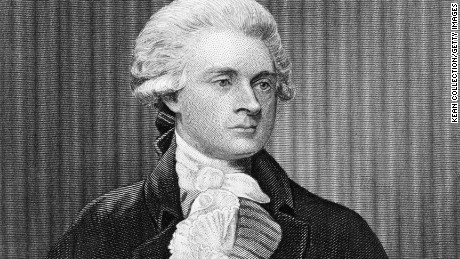 Founding Father Thomas Jefferson, third president of the US, whose legacy is complicated by his ownership of hundreds of slaves.