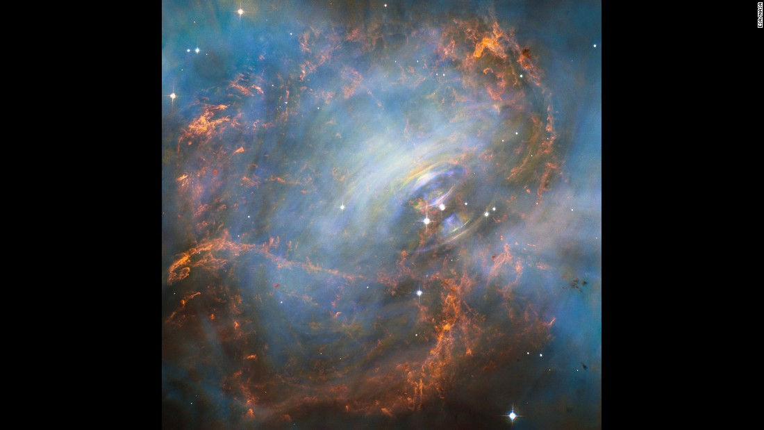 NASA's Hubble Space Telescope captured this image of the Crab Nebula and its