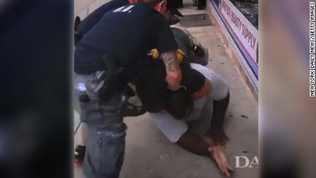 A still from a cell phone video of Eric Garner's death.