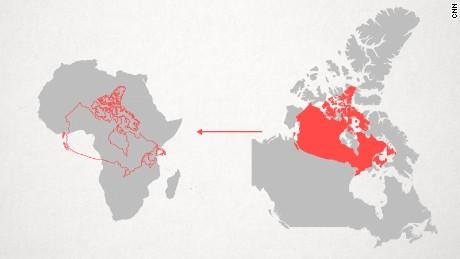 Quelle est la taille réelle de l'Afrique? Comment les états occidentaux ont utilisé des cartes pour minimiser la taille du continent