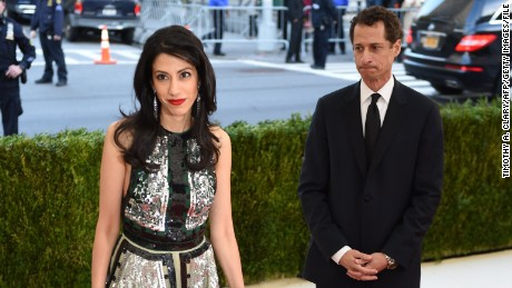 Image result for Huma Abedin with Weiner, photos