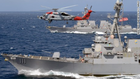 US warships again challenge Beijing's claims in South China Sea