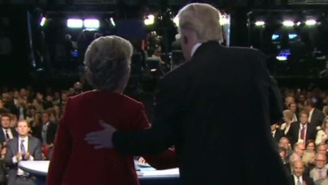 Donald Trump and Hillary Clinton during  their debate on September 27, 2016.