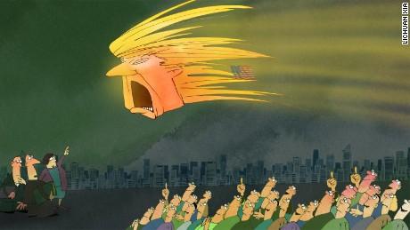 Resultado de imagen para Fotos: Caricaturas del mundo ironizan el triunfo de Trump en EE.UU.