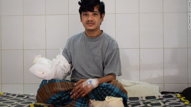 Bajandar in January 2017, shortly before he left the hospital.