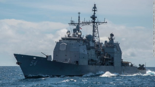 The Ticonderoga-class  guided-missile cruiser USS Antietam is the closest US match to China's new Type 055A destroyers.