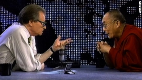 The Dalai Lama discusses Buddhism with Larry King.
