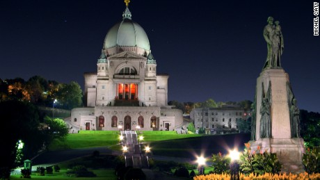 St. Joseph's Oratory of Mount Royal is in central Montreal.