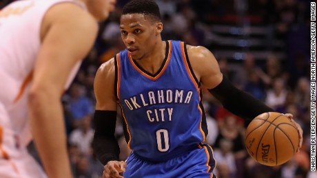 Russell Westbrook: NBA star in foul-mouthed spat with fan