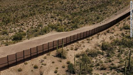 A file photo from March 2017 shows the border near Lukeville, Arizona. Authorities say Gurupreet Kaur's remains were found 17 miles west of Lukeville.