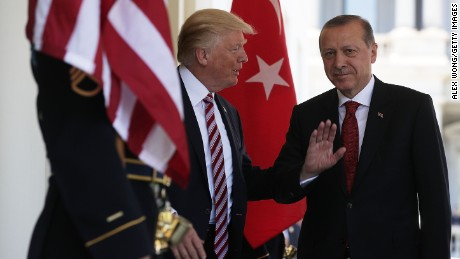 Trump welcomes Erdogan to the White House in May.