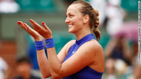 Kvitova returned to the sport at last year's French Open