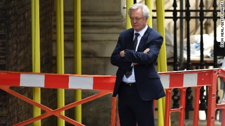 The former Brexit secretary, David Davis, quit the Cabinet over a plan brokered by Theresa May for leaving the European Union.