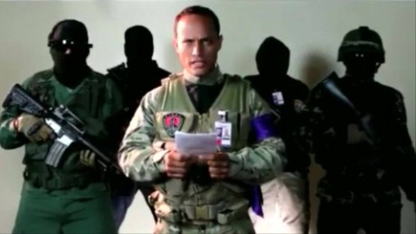 Perez posted a video of himself surrounded by hooded, armed supporters.