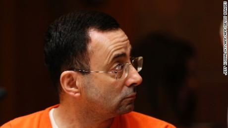 Former USA Gymnastics doctor Larry Nassar in court on June 23, 2017 in Mason, Michigan.