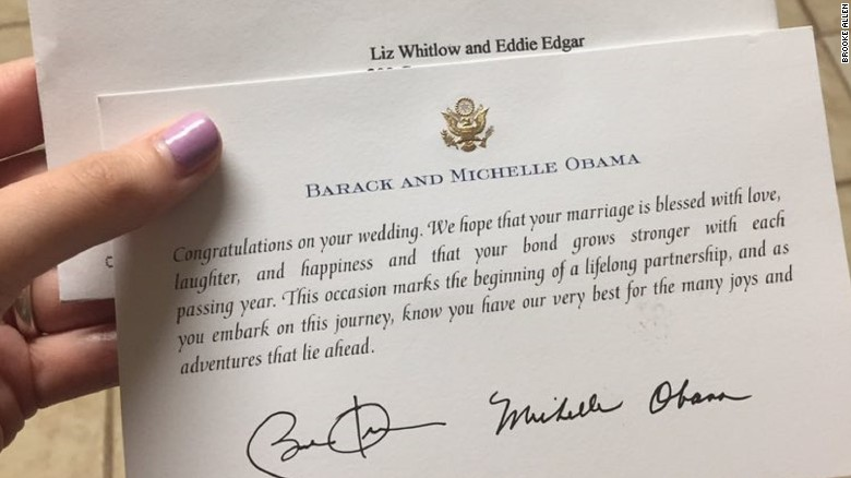 It Turns Out Obama S Office Responded To Wedding Invitations Throughout His Eight Years In