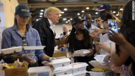 Image result for Hurricane Harvey: Trump visits Texas for post recovery fundraisers