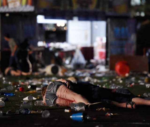 People Are Seen On The Ground After The Gunman Opened Fire Photos Mass Shooting At Las Vegas Music Festival