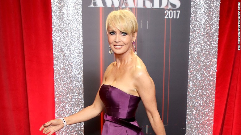 Lysette Anthony attends The British Soap Awards in Manchester, England, on June 3, 2017.