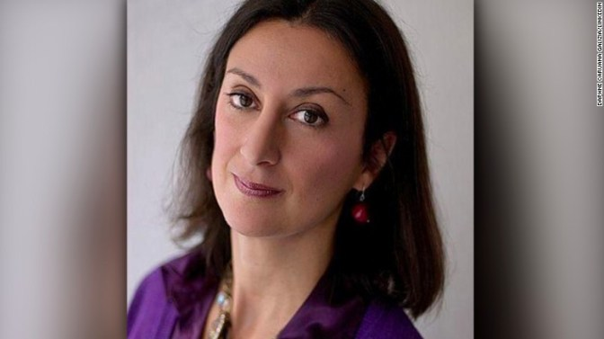 Maltese journalist Daphne Caruana Galizia, who was killed in October 2017