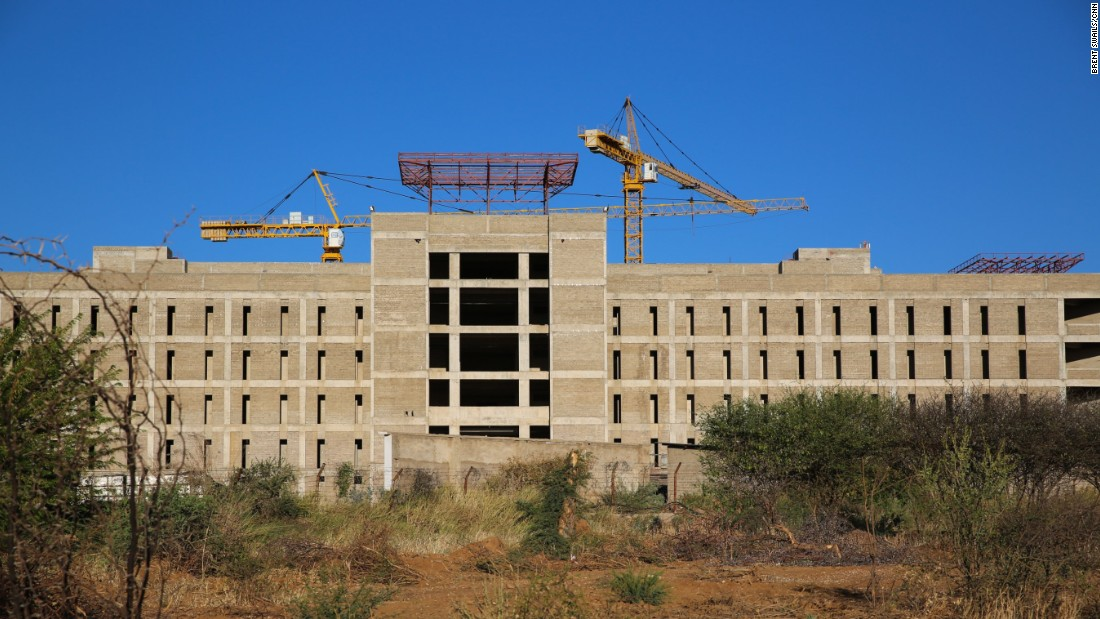 Namibia's Defense Ministry building sits incomplete.