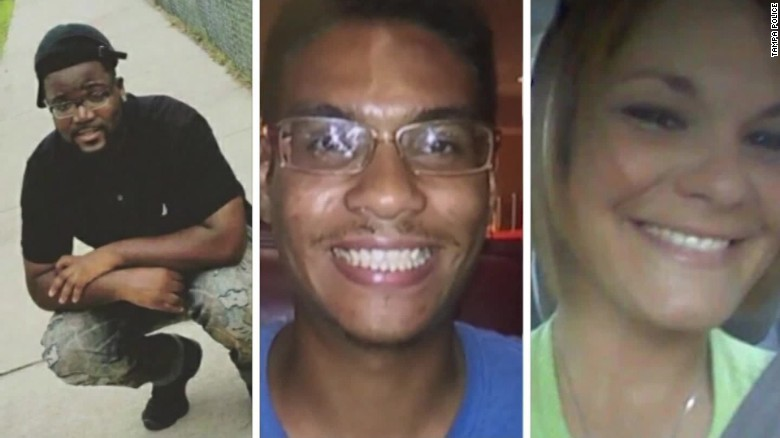 From left, Benjamin Mitchell, Anthony Naiboa and Monica Hoffa were killed within 11 days in a Tampa, Florida, neighborhood.