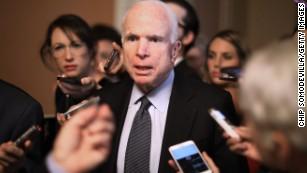 Sen. John McCain says he'll vote for Senate GOP tax plan