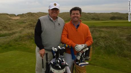 What's it like playing golf with US President Donald Trump?
