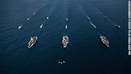 Can the world's mightiest naval fleet survive the perfect storm?